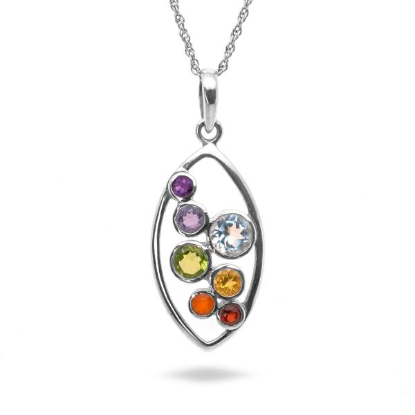 Pendentif univers argent Galaxy