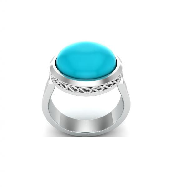 Bague turquoise argent Donia