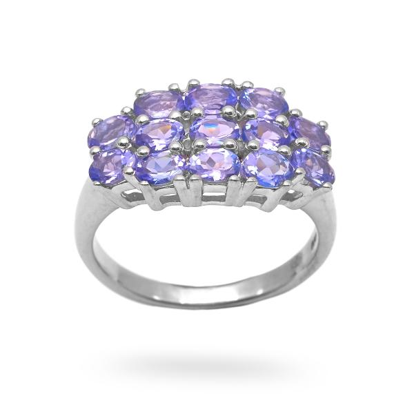 Bague tanzanite argent Olpha