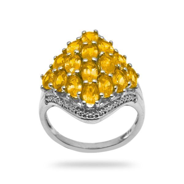 Bague saphir jaune argent Eleonora