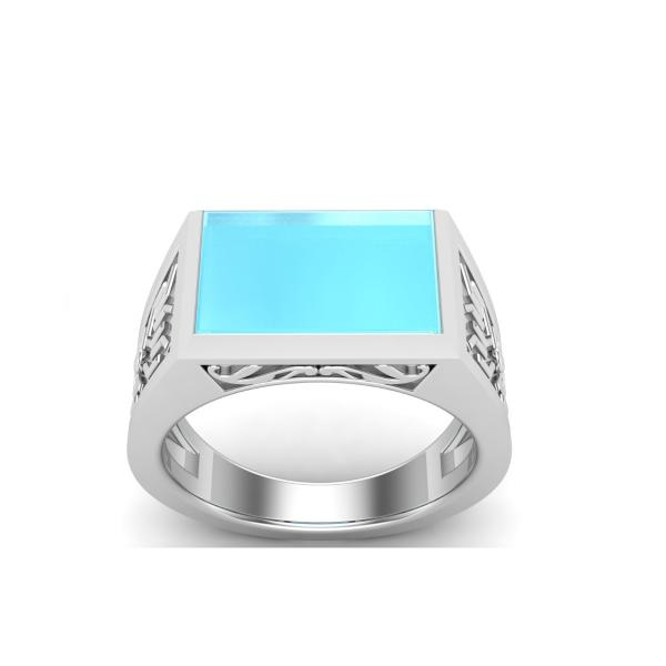 Bague turquoise argent Ananda