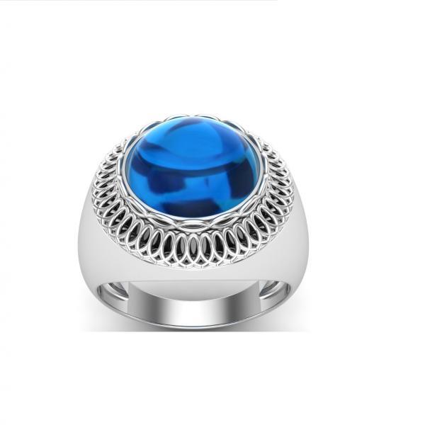Bague lapis lazuli argent Santos