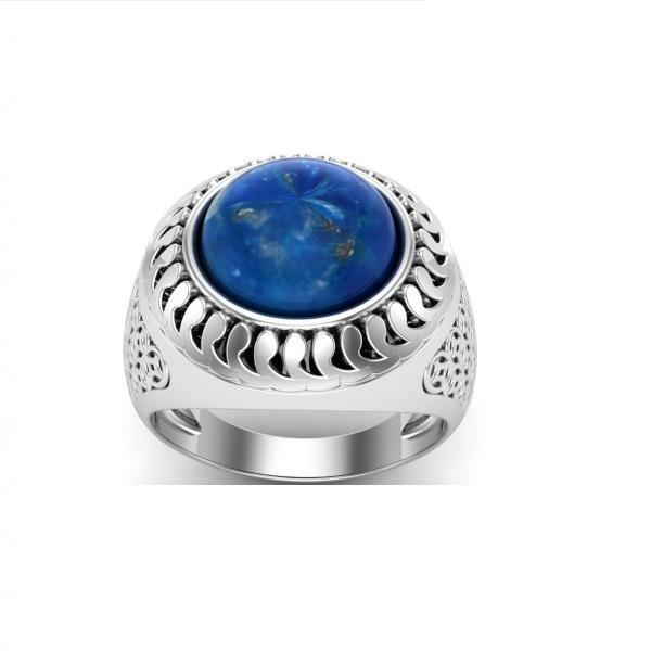 Bague lapis lazuli argent Mikonos