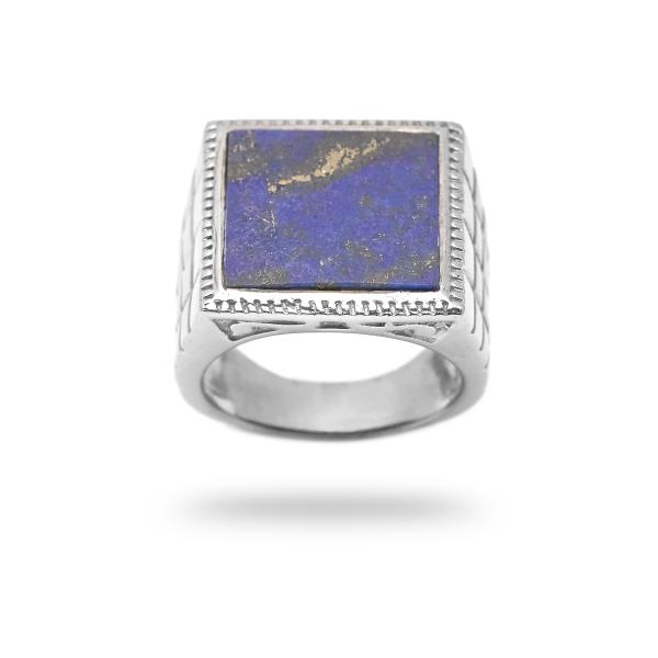 Bague lapis lazuli argent Persia